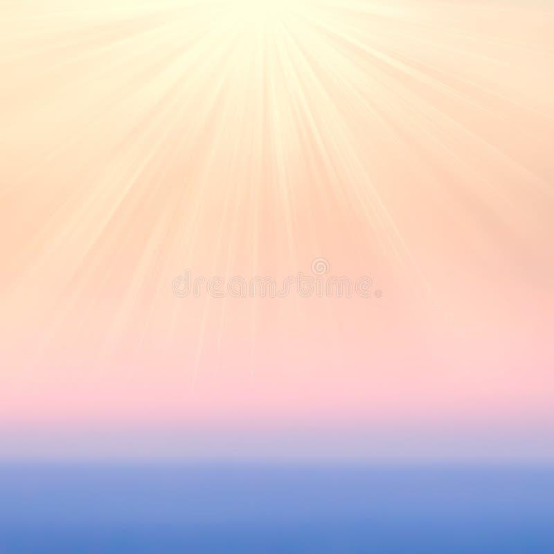 Oskarpa abstrakta lutningbakgrunder med solljus Släta förbi arkivfoto