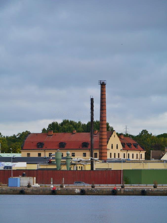 Oskarshamn una ciudad sueca imagenes de archivo