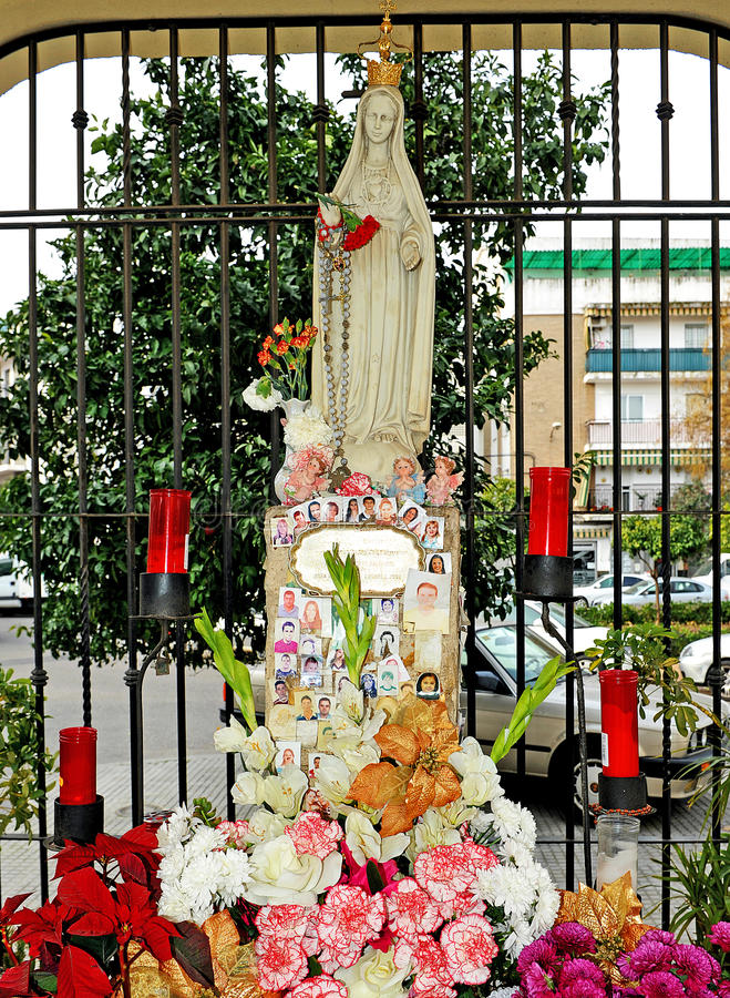 Oskuld av Fatima, Cordoba, Spanien royaltyfri foto