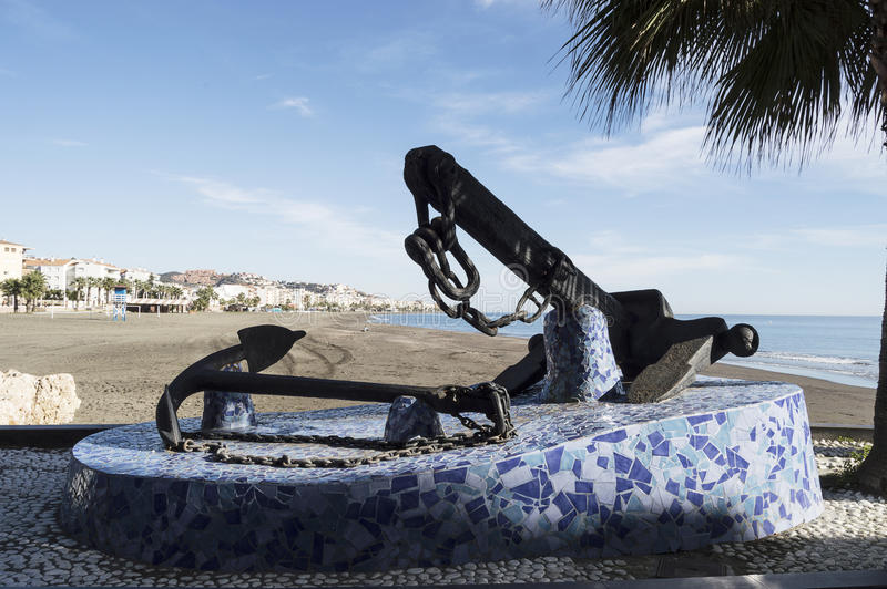 Oskuld av spårvagnsförare, Rincon de la Victoria, Malaga Spanien arkivbilder