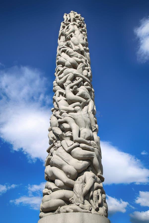 OSLO ÉDITORIAL, NORVÈGE - 18 AOÛT 2016 : Sculptures chez Vigeland photo stock
