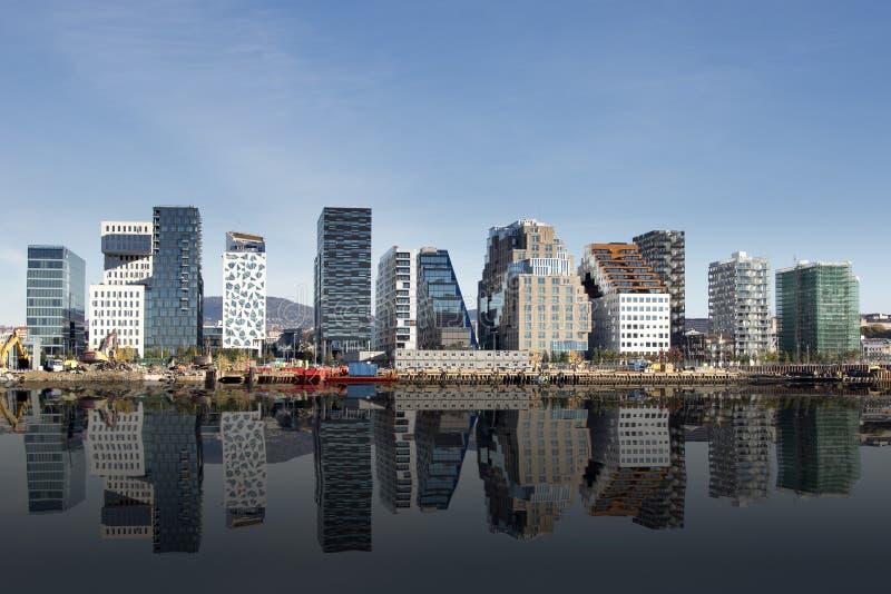 Oslo, śródmieście, Bjoervia Norwegia obrazy stock
