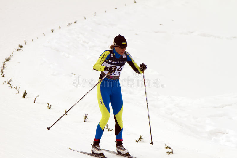 Oslo - 24 février : Championnat nordique de ski du monde de FIS, photo stock