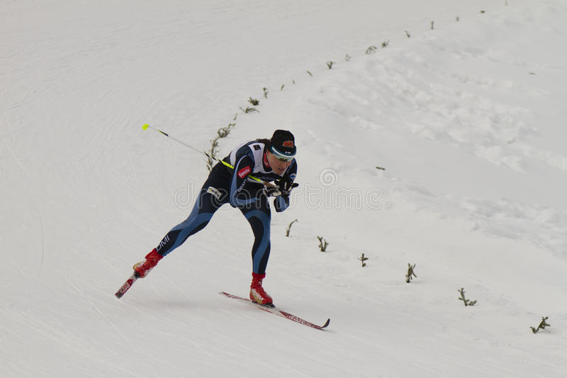 Oslo - 24 febbraio: Campionato nordico del pattino del mondo di FIS, fotografie stock libere da diritti