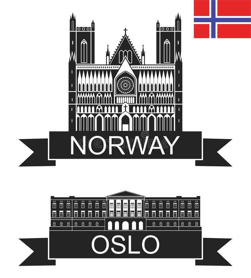 Oslo royalty-vrije illustratie