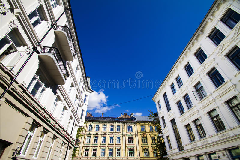 Oslo apartments 3. Apartments in downtown Oslo. The street is called Benneches gate royalty free stock photos