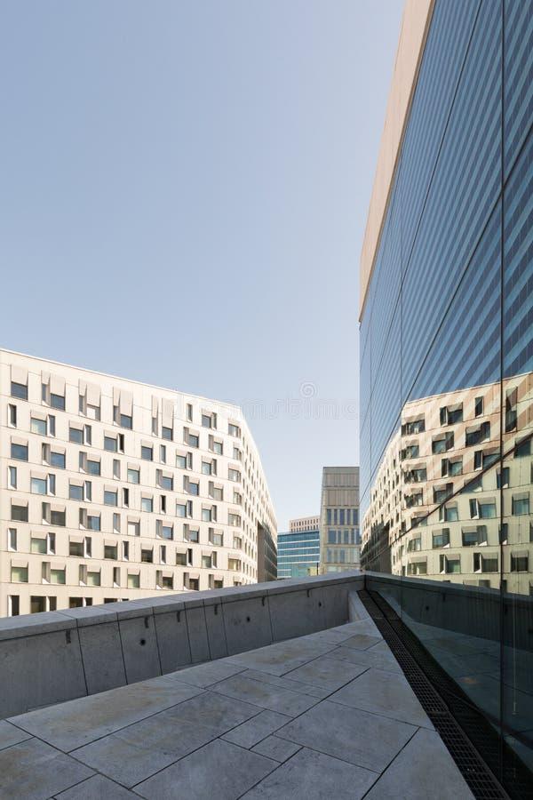 Oslo Architecture moderne Bâtiments populaires d'architecture scandinave au centre de la ville images stock