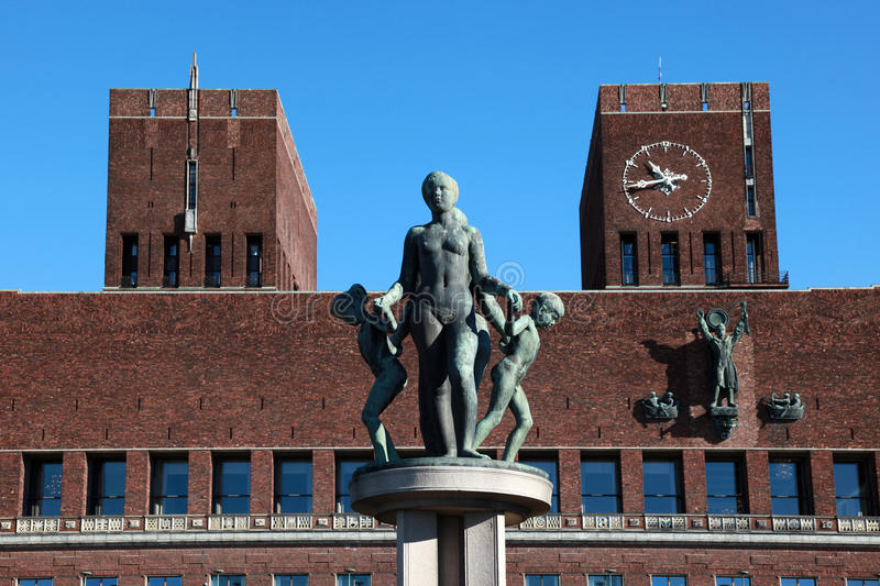 Download Oslo City Hall editorial stock image. Image of travel - 26993259