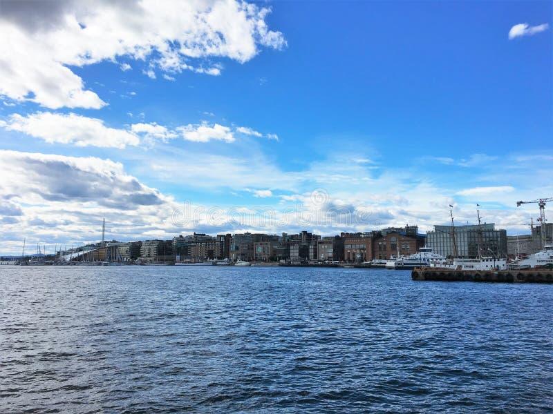 Oslo, de hoofdstad van Noorwegen stock foto
