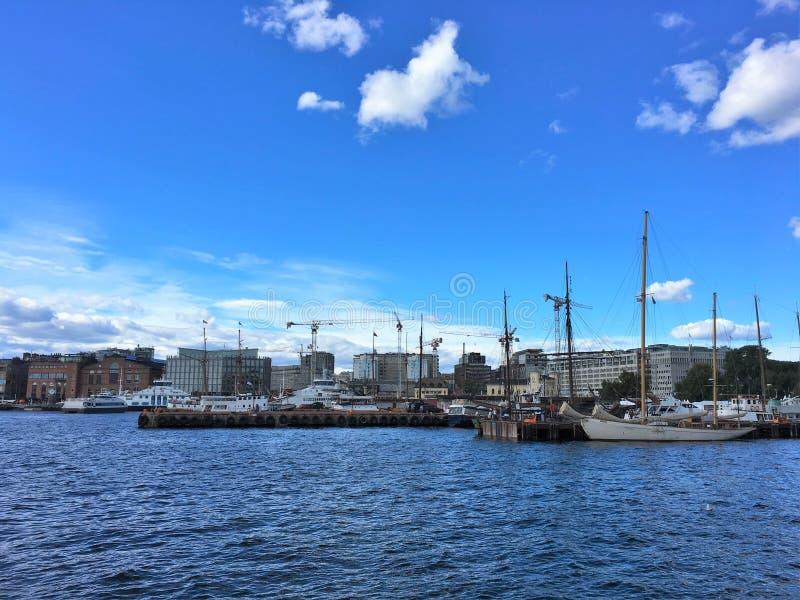 Oslo, de hoofdstad van Noorwegen royalty-vrije stock afbeelding