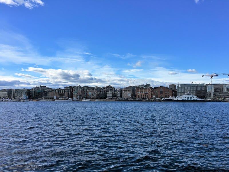 Oslo, de hoofdstad van Noorwegen stock foto's
