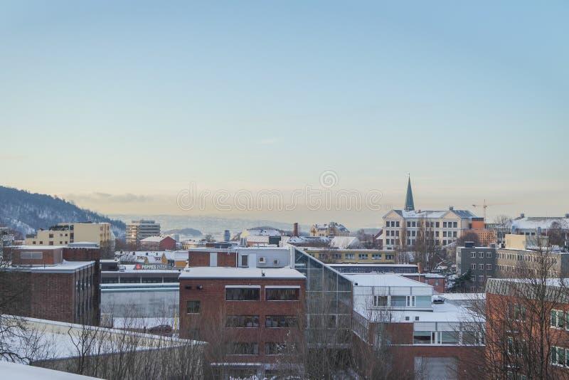 Oslo fjord widok w zimie zdjęcia royalty free