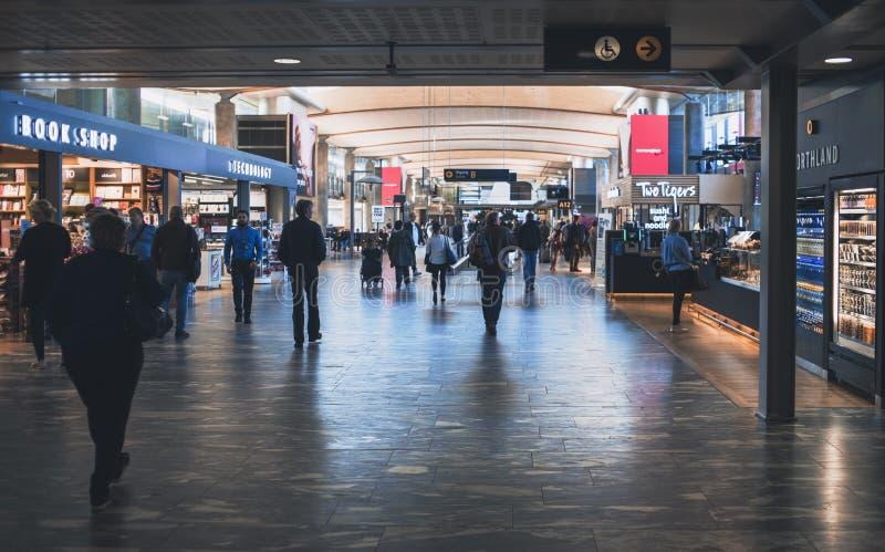 Oslo-Flughafen-Szene stockbild