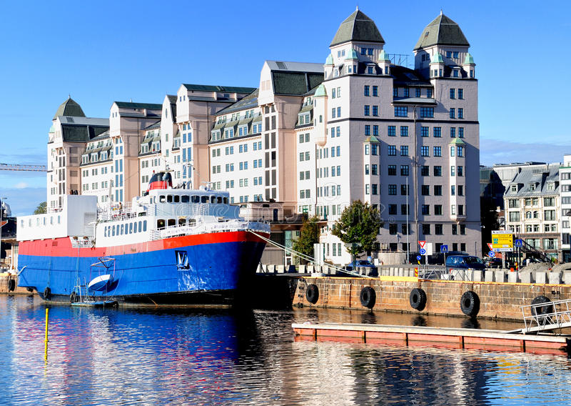 Oslo harbor royalty free stock images