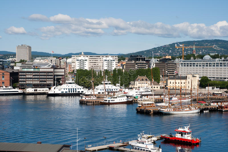 Oslo harbor - Norway. View on Oslo and it´s harbor. Oslo - Norway royalty free stock photography