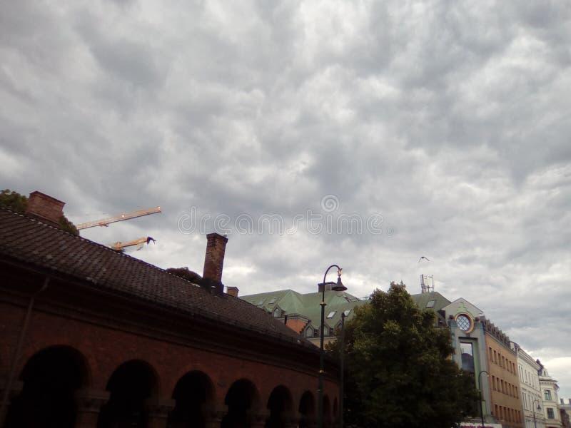 Oslo himmel 3 royaltyfri fotografi