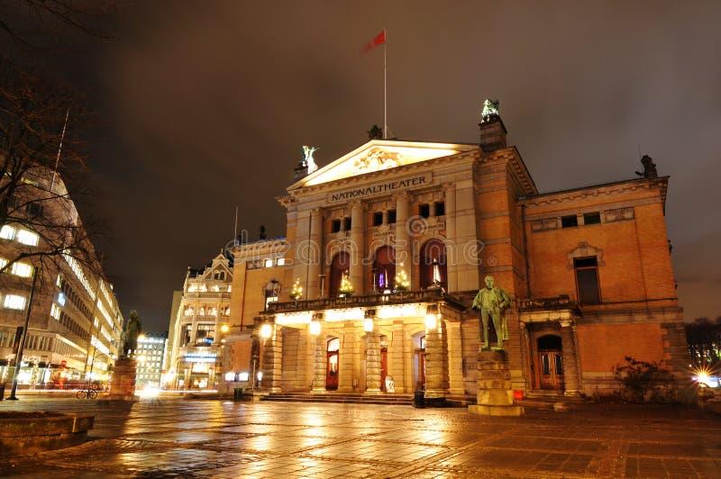 oslo krajowy teatr zdjęcia royalty free