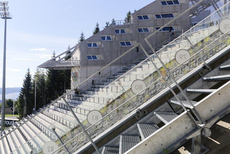 Oslo Narciarskiego skoku wierza obraz royalty free