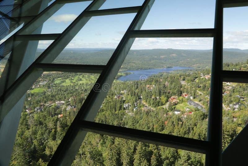 Oslo Narciarskiego skoku wierza zdjęcia stock