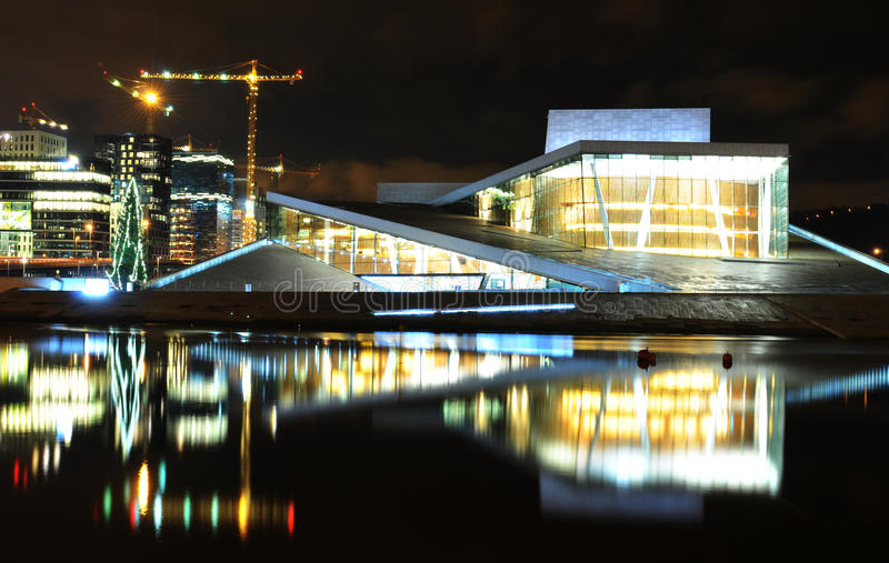 Oslo noc zdjęcie royalty free