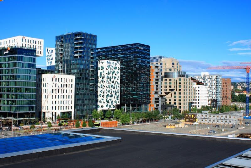 Oslo Norge, augusti 21 2016 - det stadsOslo landskapet är ett av Oslo `, arkivbilder