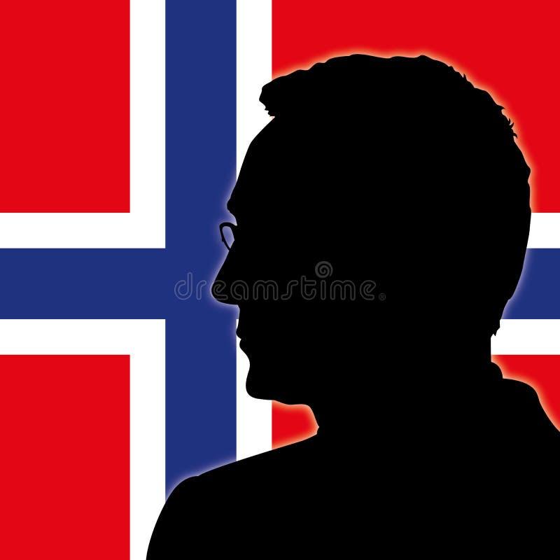 OSLO NORGE, JUNI 2017 - Jens Stoltenberg kontur, sekreterare av NATO, organisation för fördrag för norrAtlanten stock illustrationer