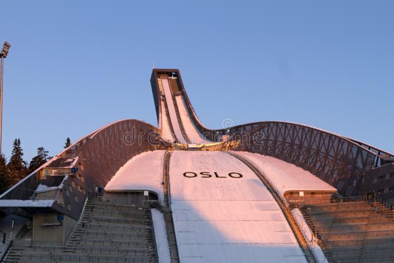 OSLO, NORUEGA - 24 DE FEBRERO: Esquí nórdico C del mundo de FIS fotografía de archivo