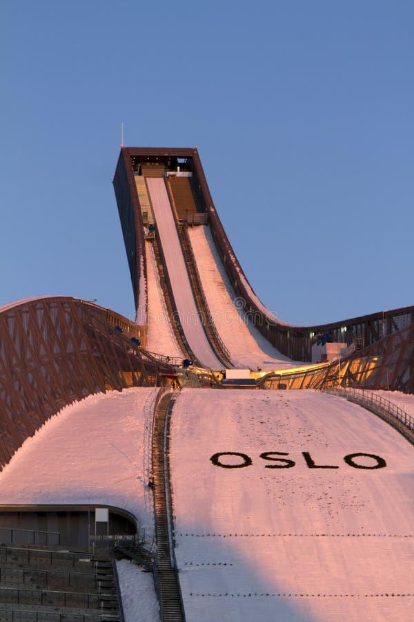 OSLO, NORUEGA - 24 DE FEBRERO: Esquí nórdico C del mundo de FIS imagenes de archivo