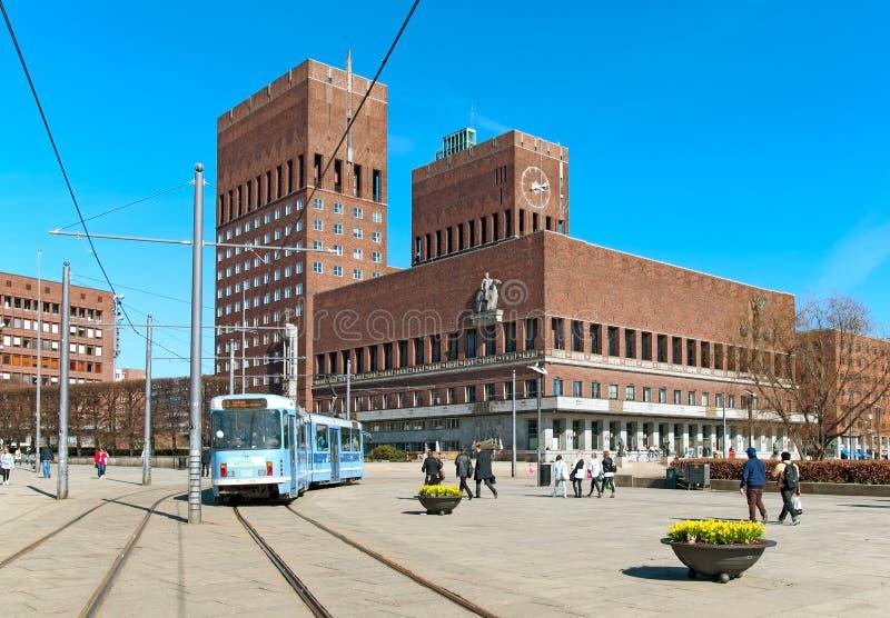 Oslo noruega El ayuntamiento foto de archivo libre de regalías