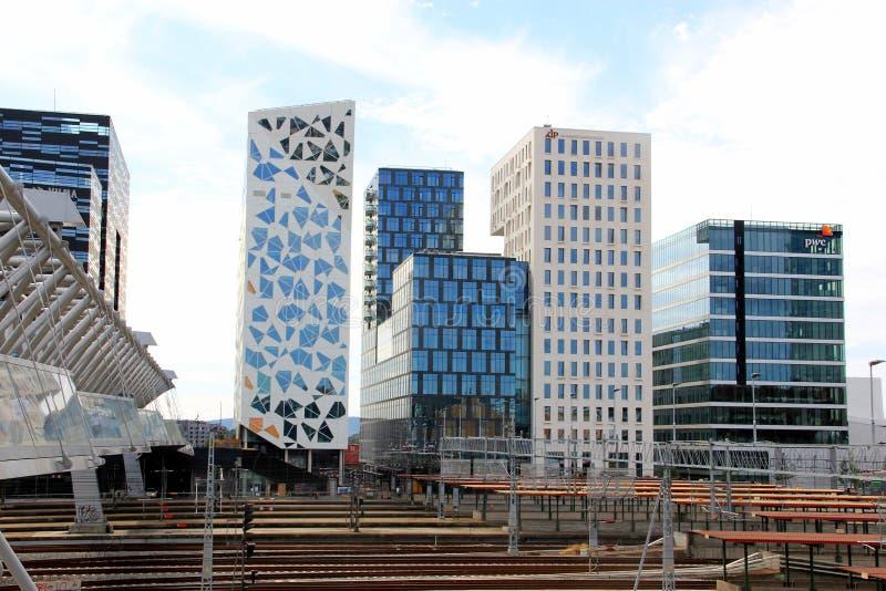 Oslo, Norvège, architecture moderne image libre de droits