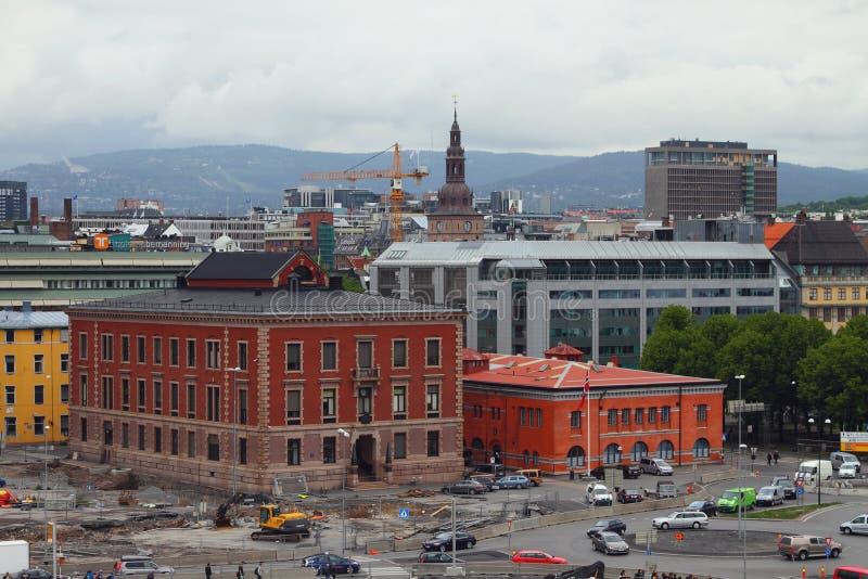 Oslo, Norvège - 15 juin 2012 : Centre historique de ville images stock