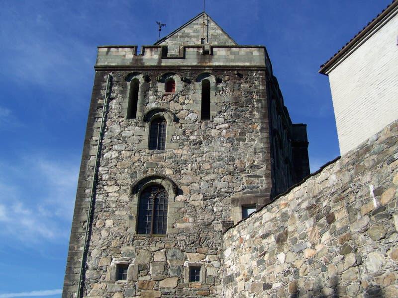 Oslo, Norvegia, 07/19/2019: muro di cinta del castello fotografia stock