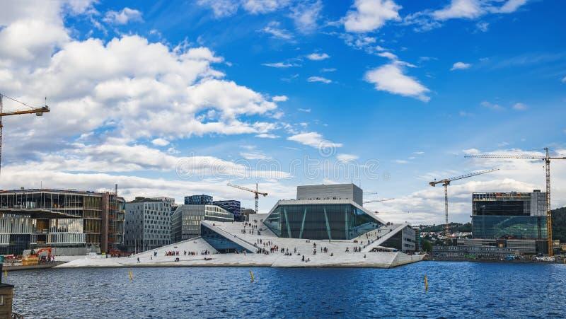 Oslo Opera House in Oslo, Norway stock photos