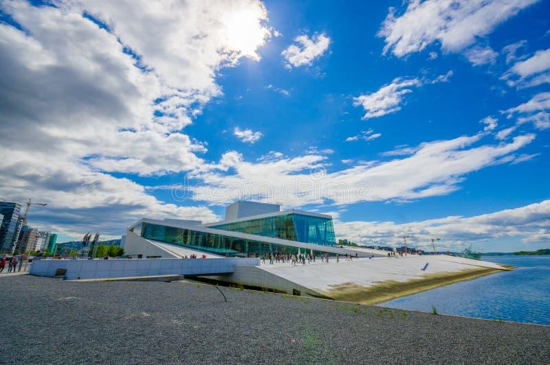 OSLO, NORWAY - 8 JULY, 2015: Beautiful opera house royalty free stock photography