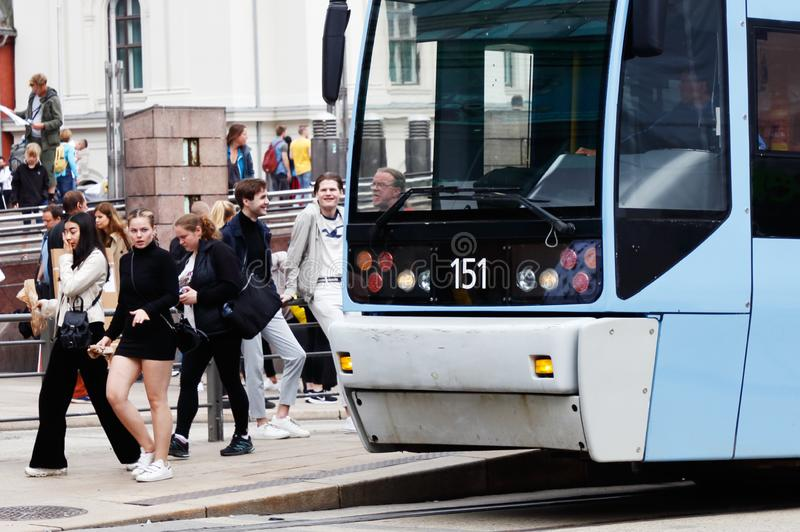 Oslo tram royalty free stock photos