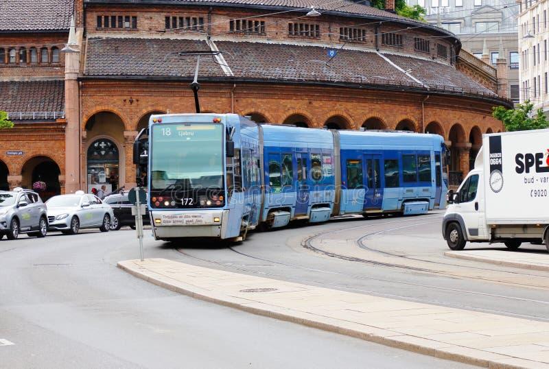 Oslo tram class SL95 stock photography