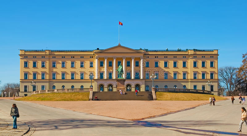 Oslo. Norway. The Royal Palace stock photography