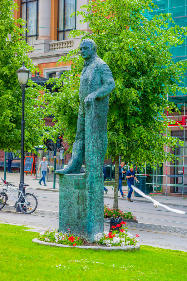 OSLO, NORWEGEN - 8. JULI 2015: Statue Carl Joachim stockfotografie