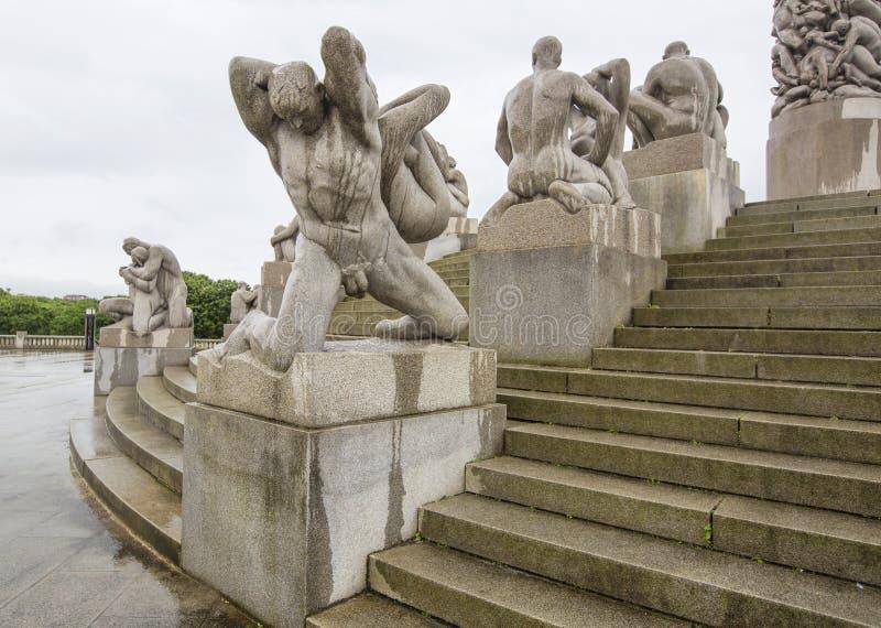 Oslo () Norwegia park, Frognerpark - Vigeland/ zdjęcia royalty free