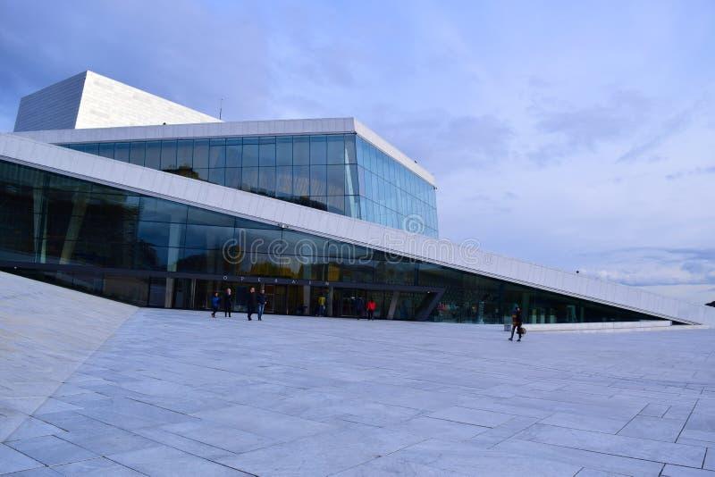 Oslo opera Architektura, krajobraz zdjęcia stock
