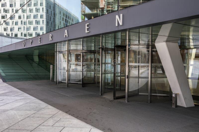Oslo operahus royaltyfri fotografi