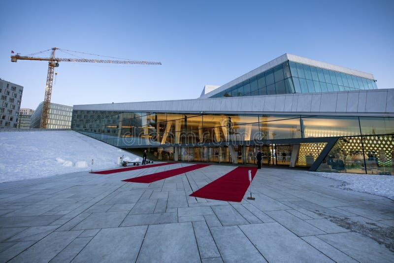 Oslo operahus arkivbild
