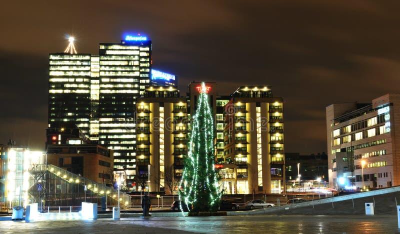 Oslo przy Bożymi Narodzeniami obraz royalty free