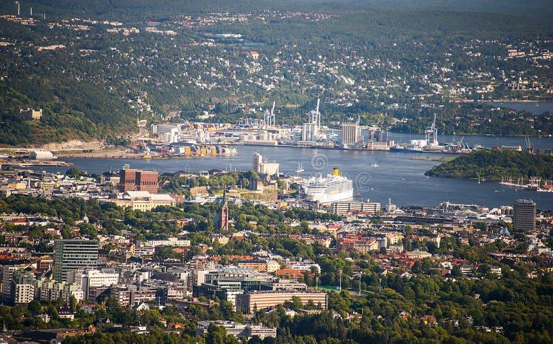 Oslo ptasi widok obrazy royalty free