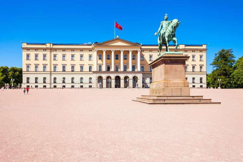 Oslo Royal Palace, Norway. Royal Palace in Oslo, Norway. Royal Palace is the official residence of the present Norwegian monarch stock photography