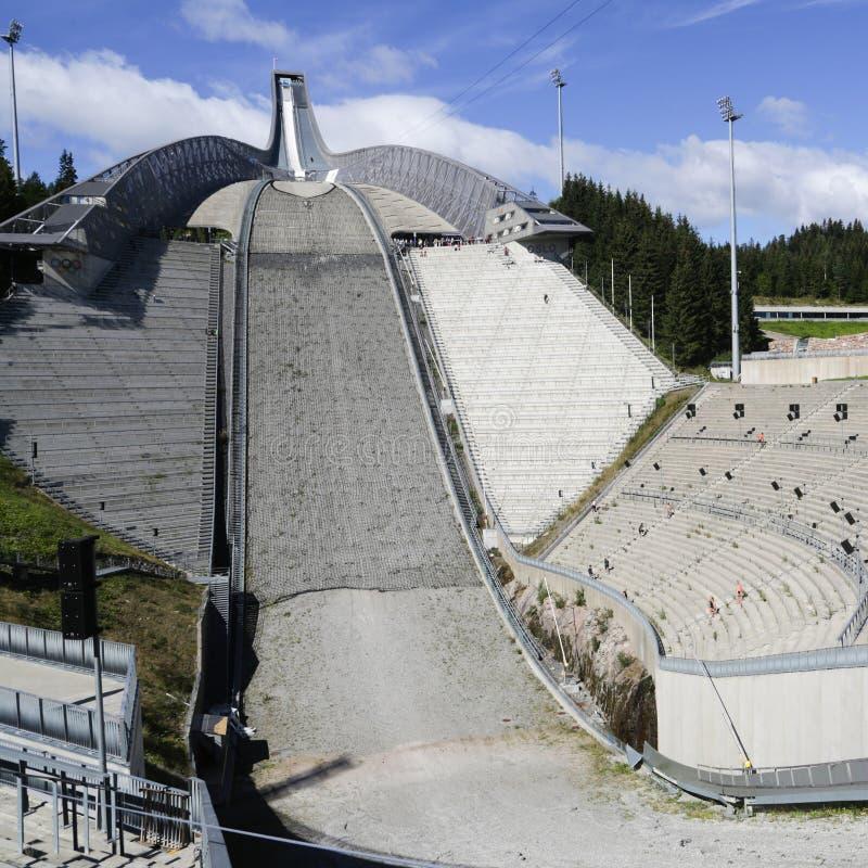Oslo Ski Jump Tower fotos de archivo libres de regalías