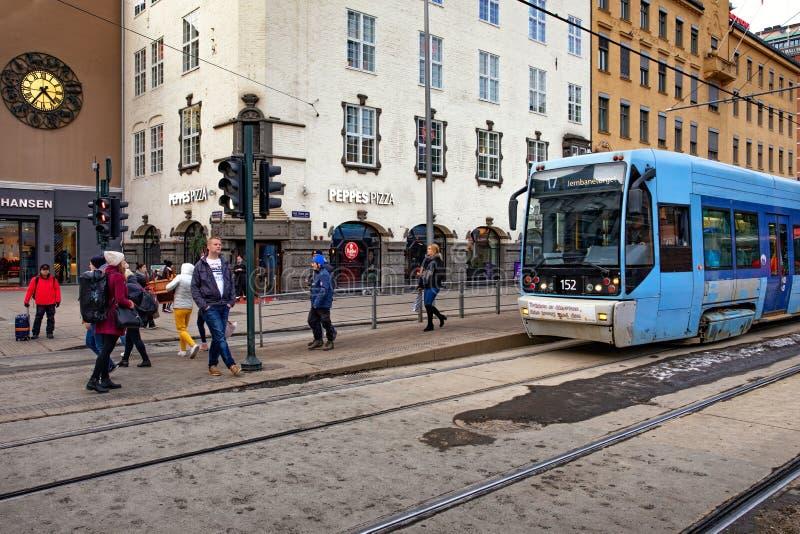 Oslo spårvagn arkivbilder