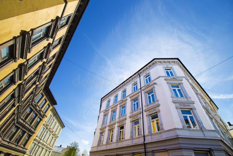 Oslo-Stadt, die 12 errichtet stockbild