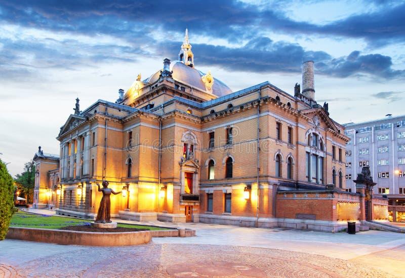 Oslo - teatro nacional, Noruega foto de archivo