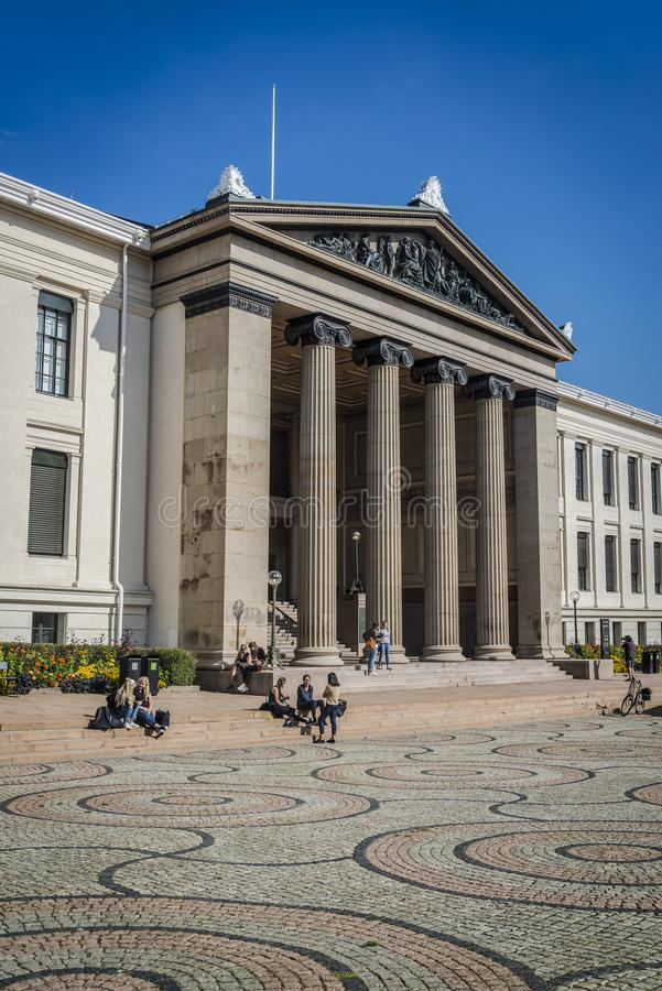 Oslo-Universität Aula, Oslo, Norwegen lizenzfreie stockbilder